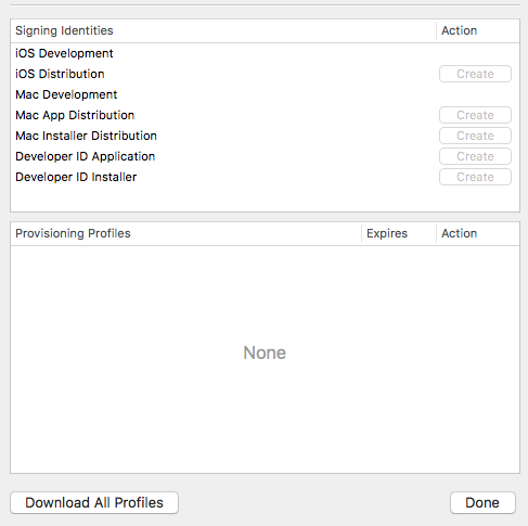 Xcode→preferences→Accounts→AppleIDs→ViewDetailsの中↓