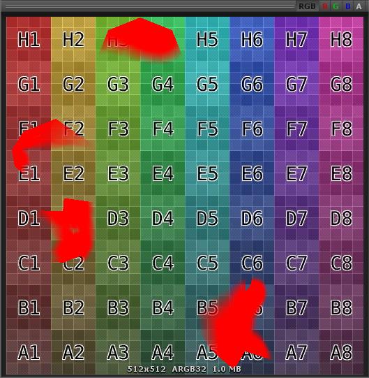 着色されたレンダーテクスチャ